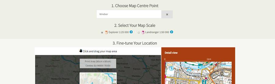 OS custom map