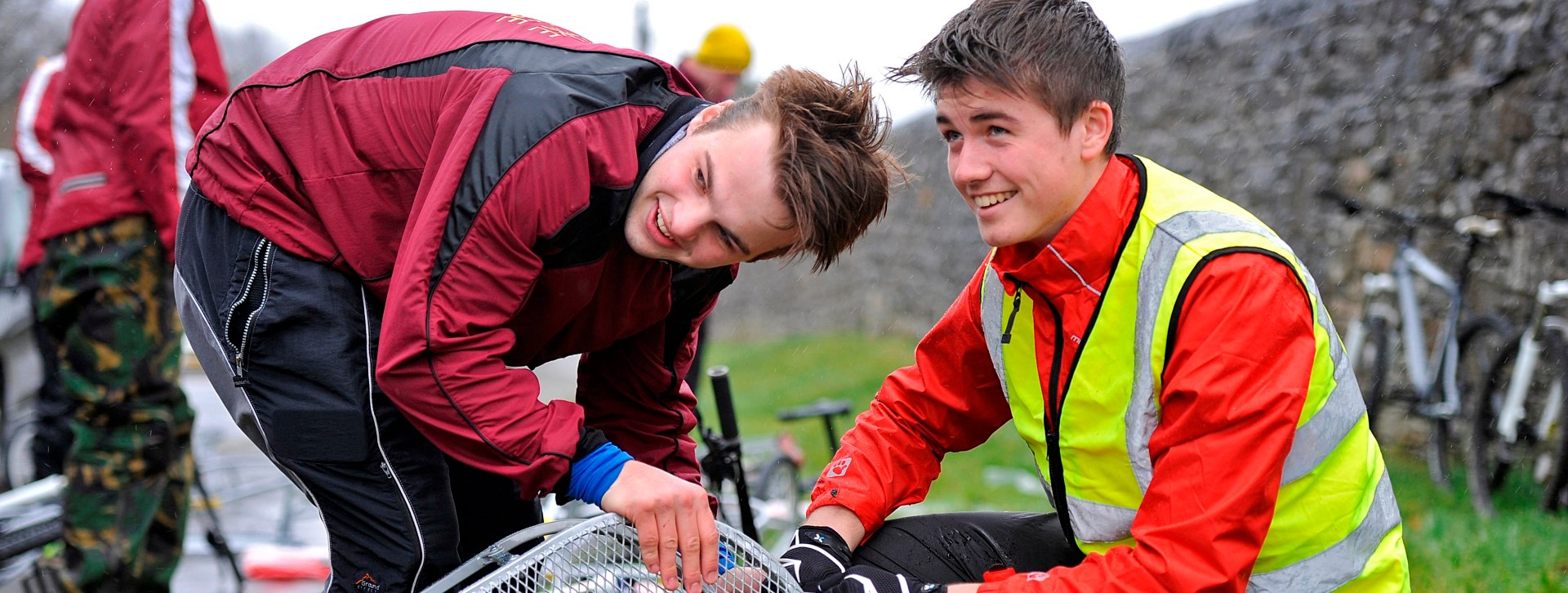 The Duke of Edinburgh's Award Gold Expedition in the Brecon Beacons, Wales with students and staff  from Shiplake College, Henley-On-Thames. Three groups over two days taking part in cycling, canoeing and kayaking expeditions, 28th-30th March 2015  Photography by Fergus Burnett  Accreditation required with all use - 'fergusburnett.com'