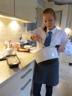 Georgia Thomas cooking