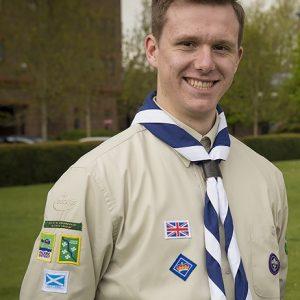 Logan in his Scout uniform