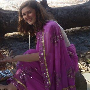 Rachel volunteering in India