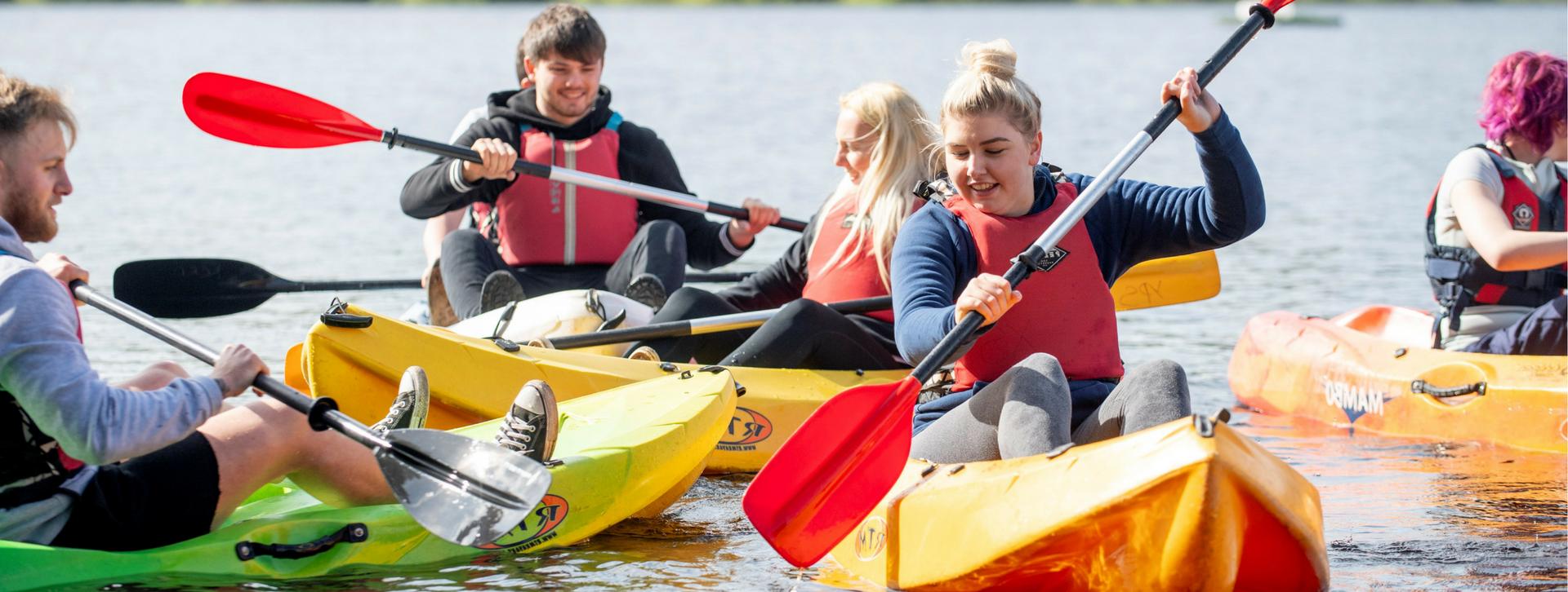 Tarmac team canoeing