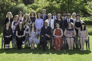 Group of DofE Direct participants at Buckingham Palace Gold Award Presentations
