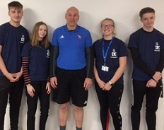 Four participants with DofE Leader