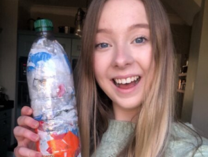 Jessica Booth with water bottle