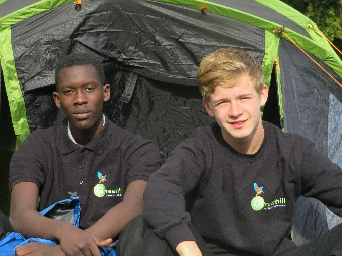 Greenhill group shot in a tent