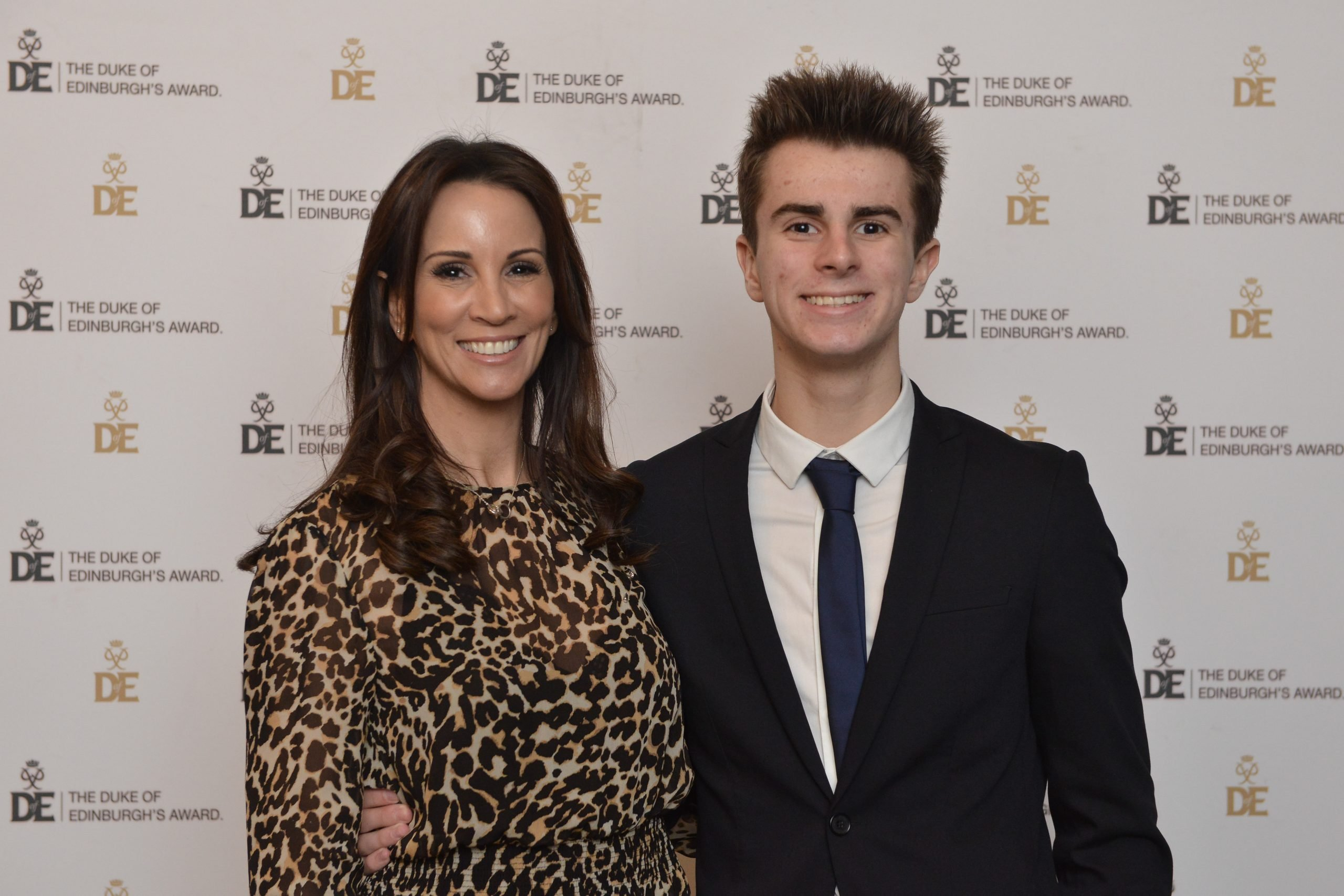 Presenter Andrea McLean and her son Fin
