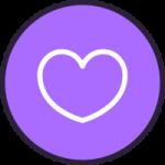 Purple volunteering icon