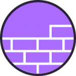 Purple residential icon