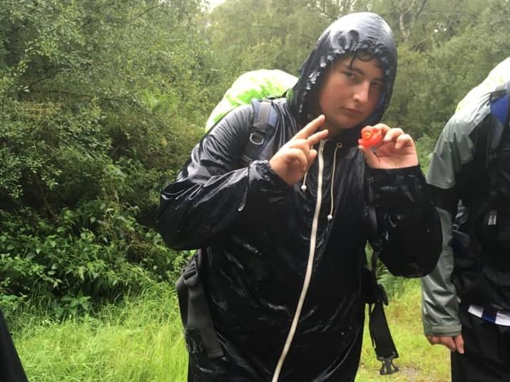 George in rain jacket