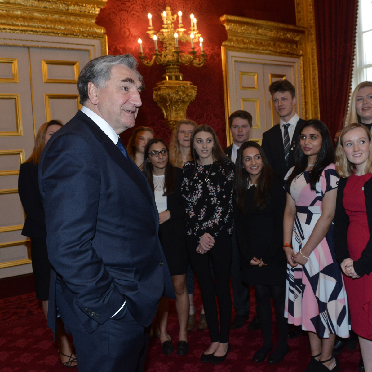 Jim Carter at DofE Gold Award presentation
