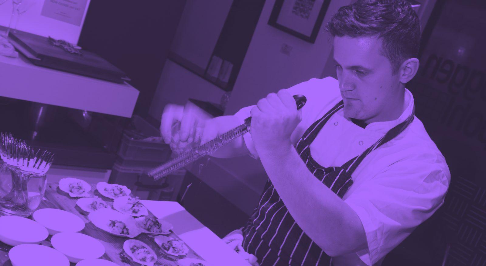 Chef named Jon dishing up food