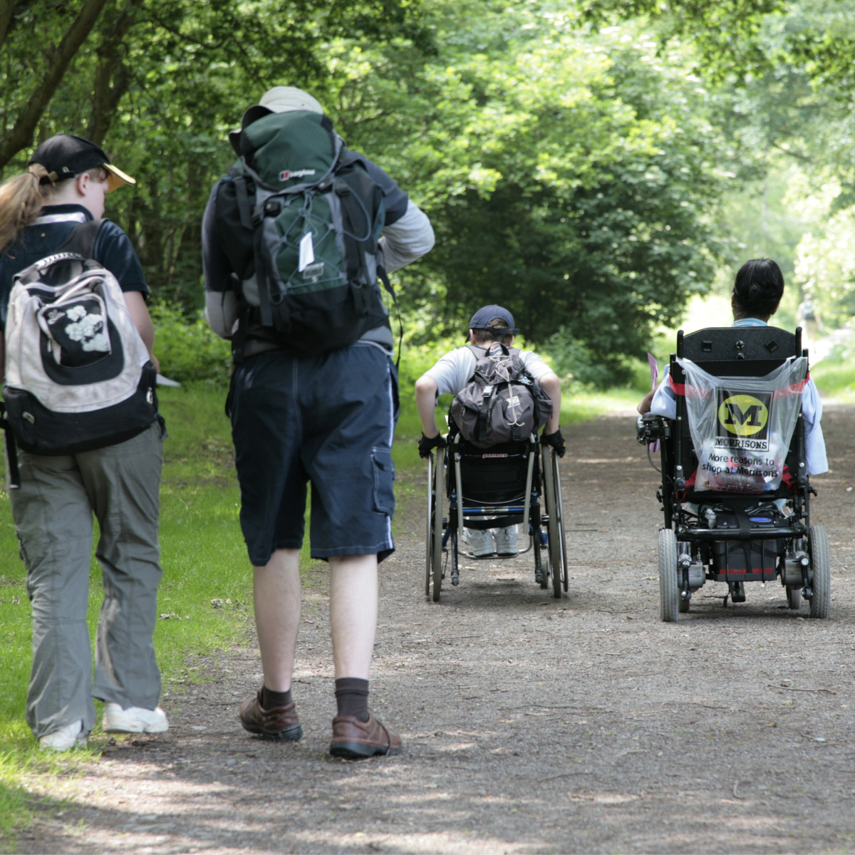 Two wheelchair users on DofE and two young leaders