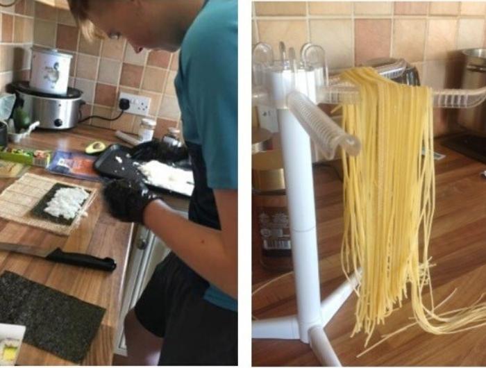 Edward cooking