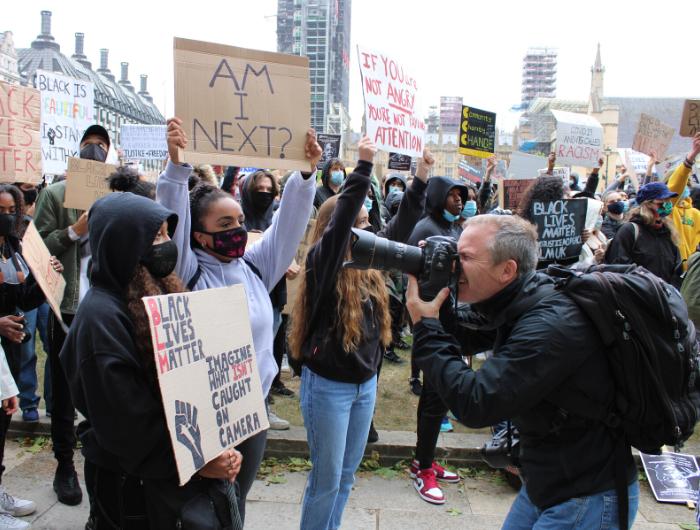 Peaceful protest in London for #BlackLivesMatter