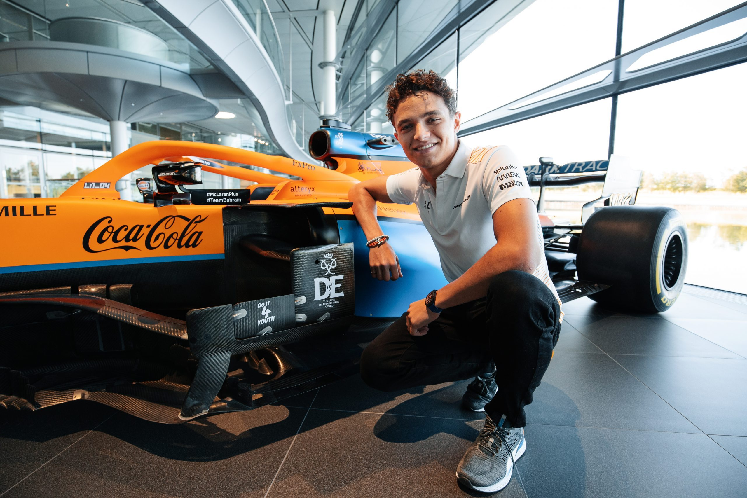 Lando Norris, McLaren car